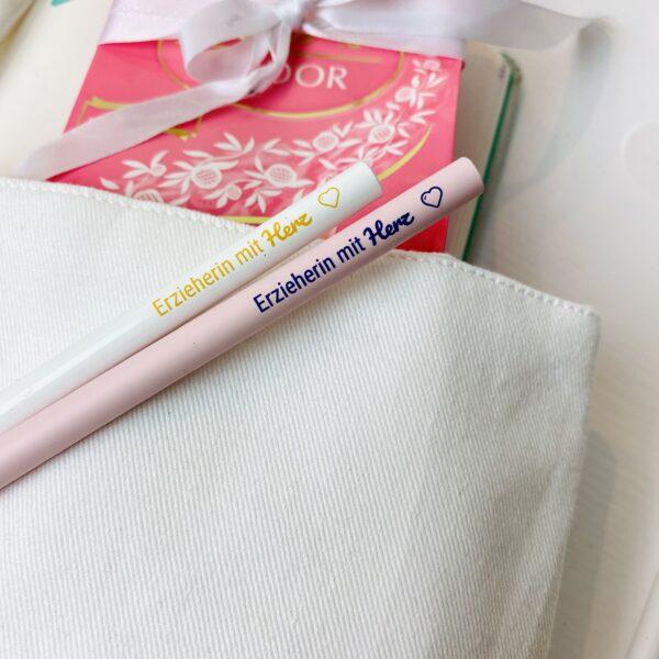 Erzieherin mit Herz - 2 Bleistifte